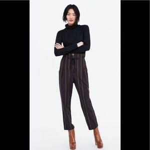 Zara Paper Bag Waist Pants